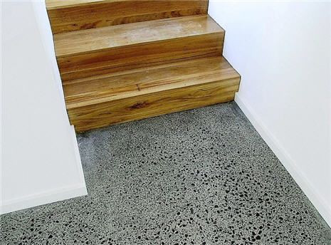 polished concrete and wood stairs - Google Search