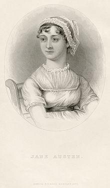 Jane Austen, d'après un dessin de sa sœur Cassandra.