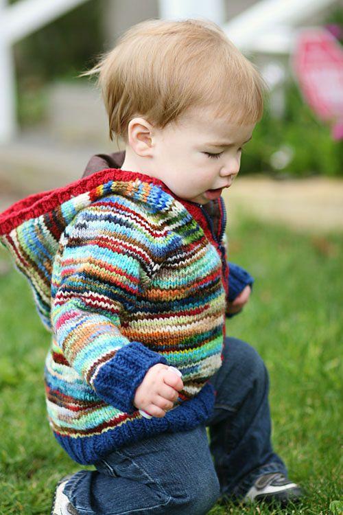 Toddler Raglan Hoodie Knitting Pattern