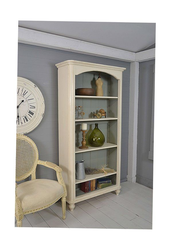 Tall Slimline Shabby Chic Vintage Pine Bookcase artwork