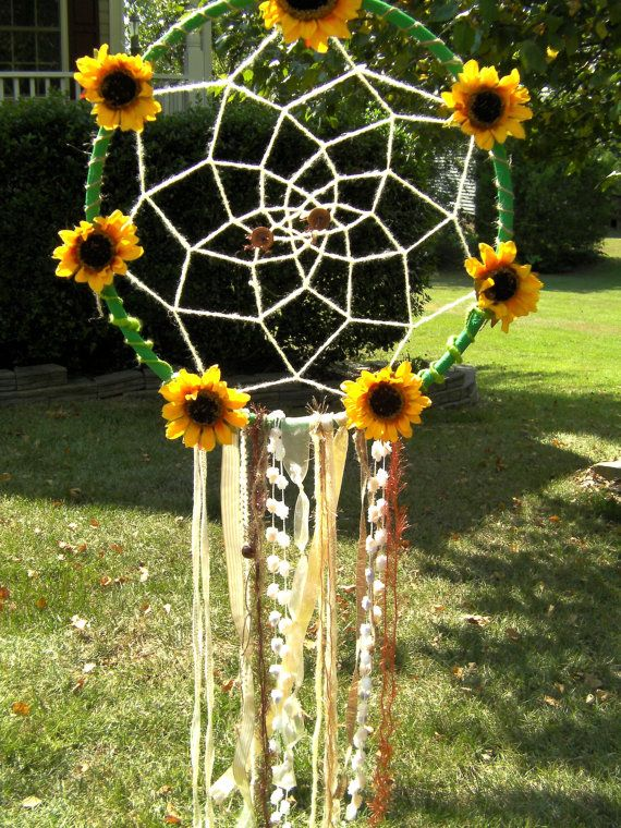 Large Sunflower Dream Catcher