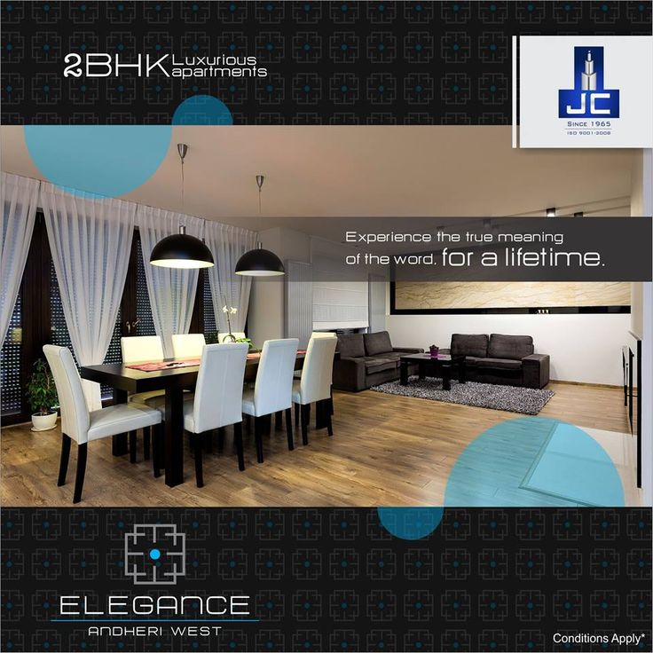 Experience the luxury of living at ELEGANCE in a format of ONE APARTMENT PER FLOOR in #Andheri West.