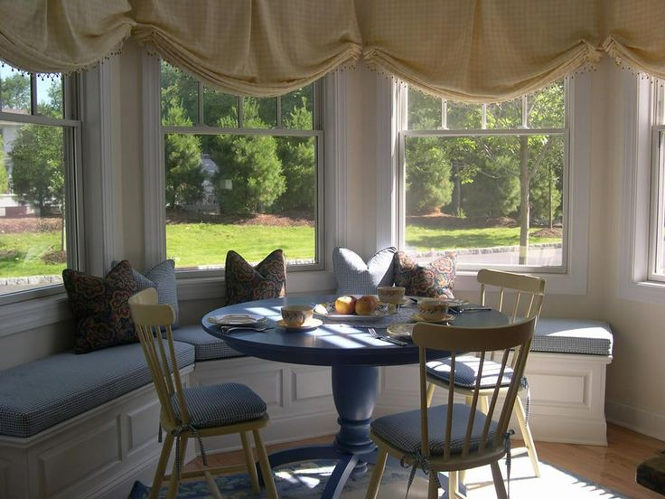 Best WINDOW SEATING Images On Pinterest Window Seats Bay - Beautiful windows and love the window seat with blue white cushions