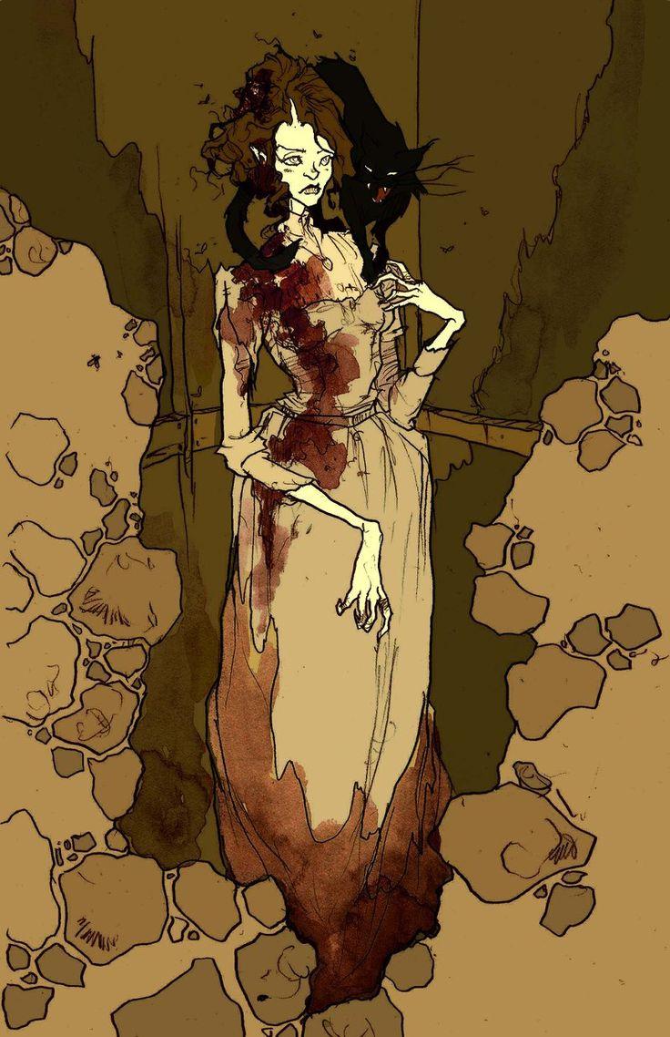 Abigail larson illustration for poe s the black cat