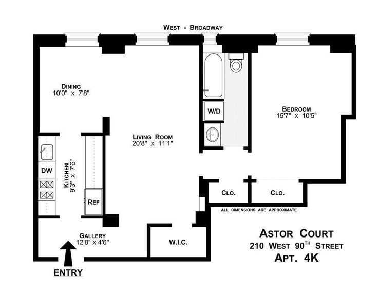 Co Op For Sale In Upper West Side, Manhattan For $750,000, 3.5 Rooms ·  Upper West SideHome Floor PlansManhattan Part 60