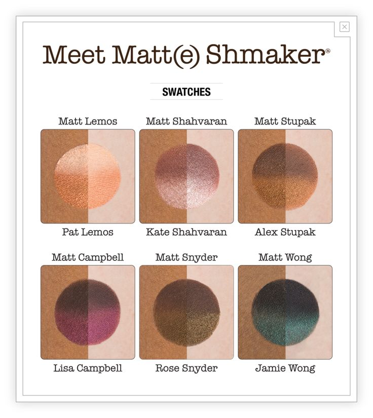 Introducing the Meet Matt(e) Shmaker eyeshadow palette from theBalm Cosmetics! Featuring a perfectly paired selection of 6 matte and 6 shimmer shadows, this pal
