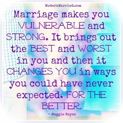 The definition of modern marriage…Maggie Reyes