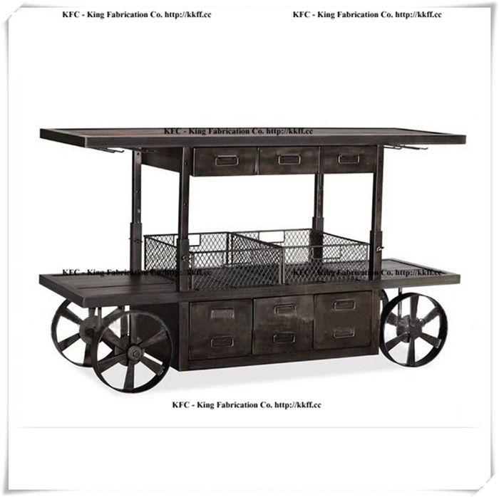 American Country Mining Industry Old Four Iron Solid Wood