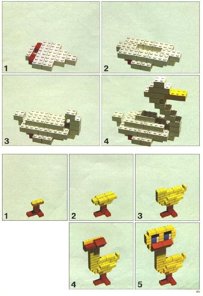 oie et canard construction lego