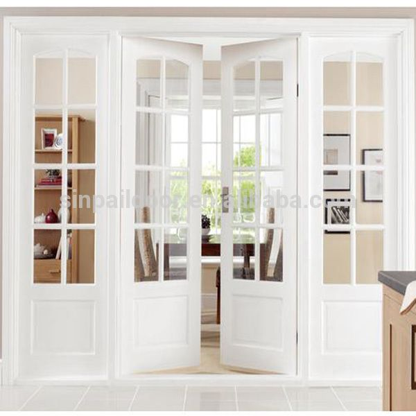 Hot sales 8 foot outswing black french doors with glass