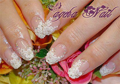 大人気の小花フレンチ♪ブライダルネイル の画像|ネイルアーティスト ageha ネイルデザインブログ