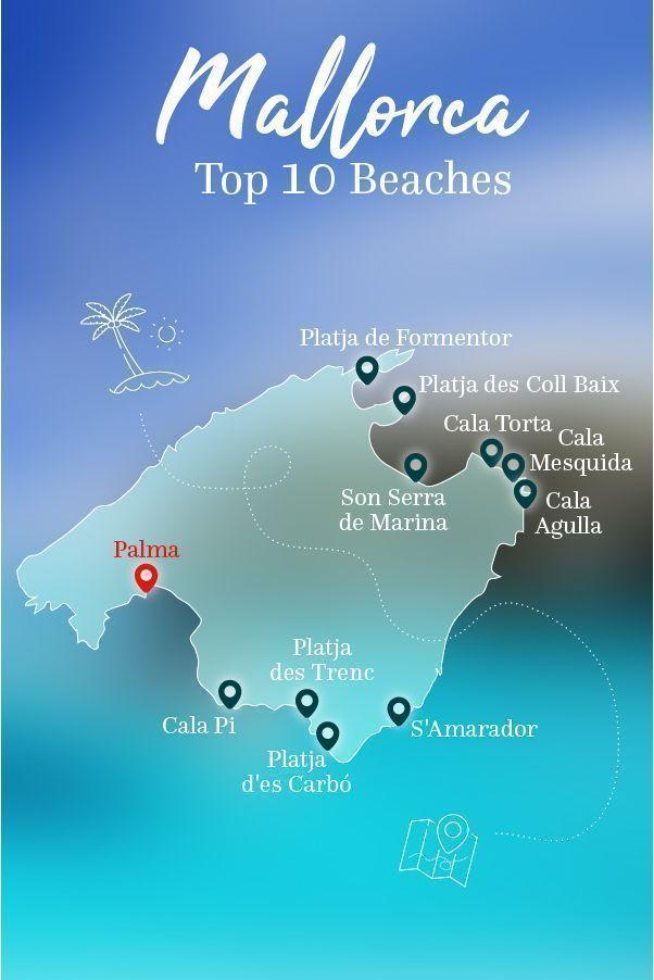 Carte Des Plages De Majorque : carte, plages, majorque, Plages, Majorque!, Voici, L'aperçu., #abindenurlaub, Mallorca, Beaches,, Beach, Trip,, Island
