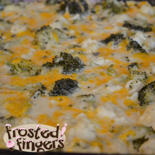 Broccoli & Cauliflower casserole...  super delish!  Very easy!  Made for Christmas dinner, definitely a hit!