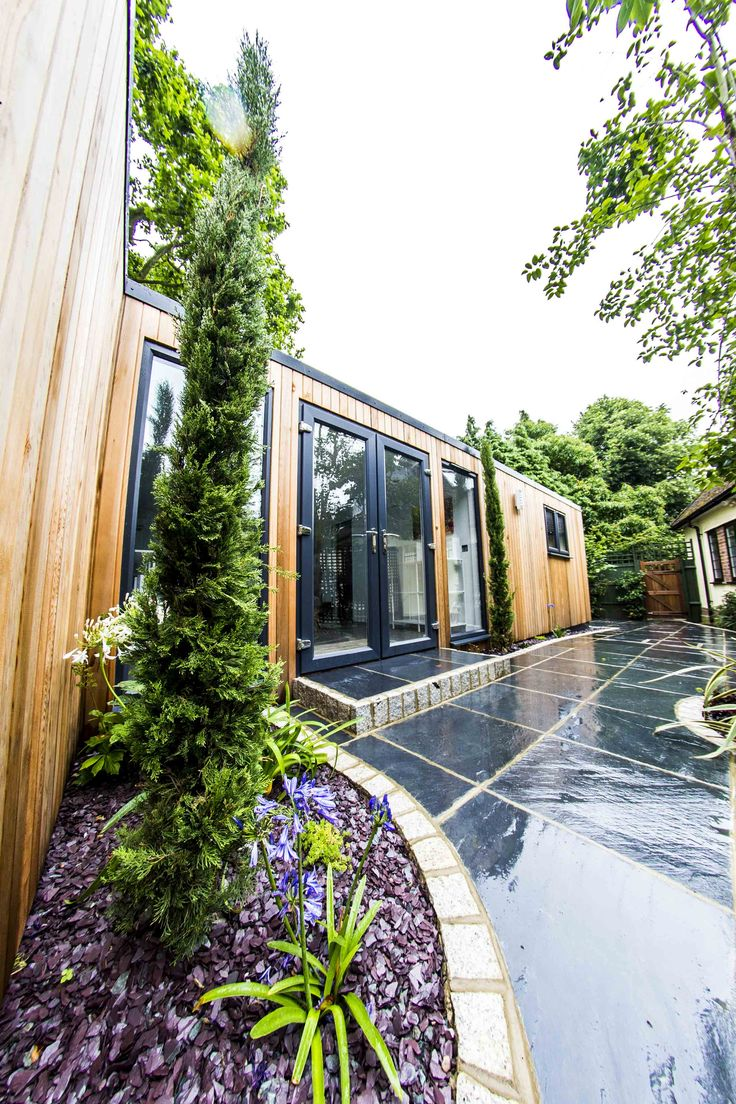 best garden office. take a look at this beautiful contemporary annexe we have recently finished in the north london area customer has had garden landscaped with slate best office