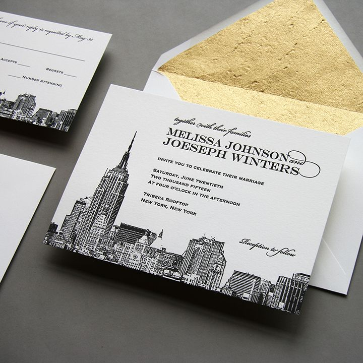NEW New York City Skyline Wedding Invitation