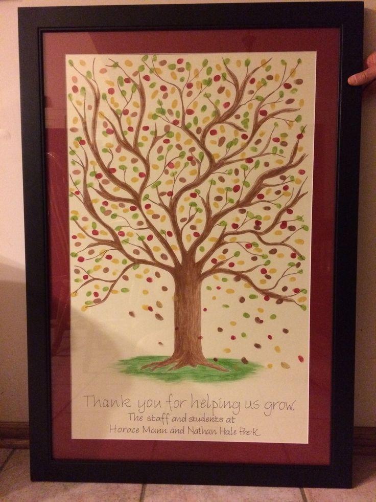 Thumbprint tree I made for principal gift.