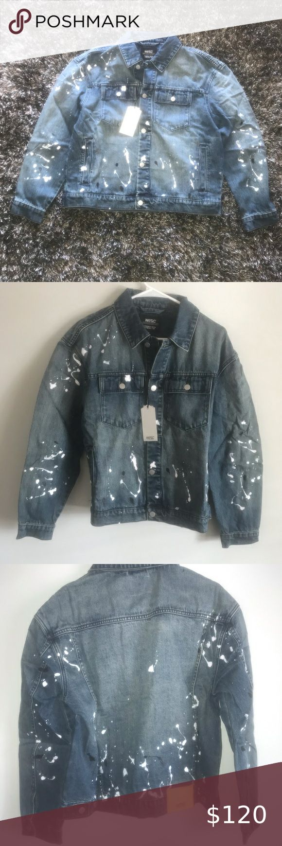 Wesc Paint Splatter Denim Jacket Mens Small Nwt Wesc Paint Splatter Denim Jacket Mens Size Small Brand New Wit Denim Jacket Men Denim Jacket Clothes Design [ 1740 x 580 Pixel ]