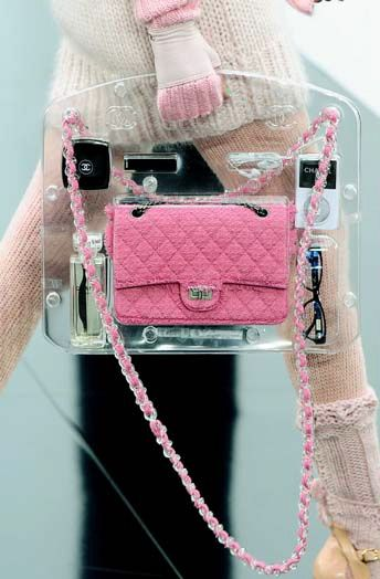 Chanel clear bag