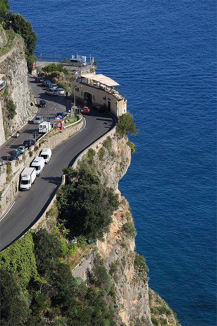 Coffee Shop along The Amalfi Coast Road ~ Italy