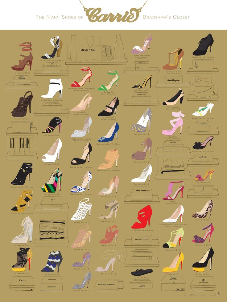 The Many Shoes of Carrie Bradshaw: An Infographic You Can Buy | StyleCaster