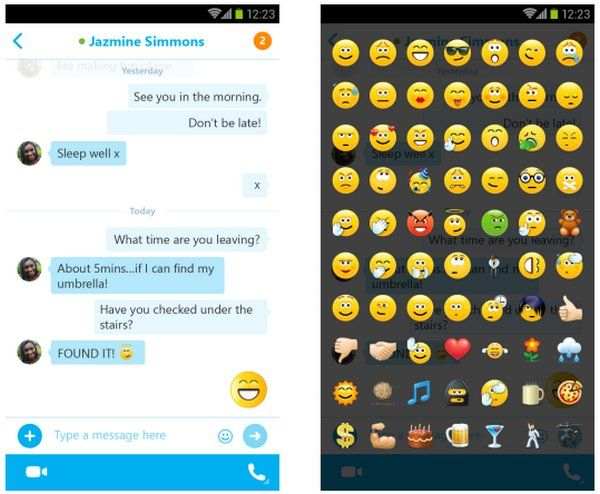 Skype acaba de anunciar la actualización de sus aplicaciones móviles para iOS y Android. La versión para Android, Skype 5.3, es la que más mejoras incluye, especialmente en lo que se refiere al chat, el cual ahora tiene un nuevo estilo burbuja, similar al chat de las aplicaciones de Skype para iPhone y Escritorio. También agregaron soporte para Emoji, que junto con los tradicionales emoticones de Skype, triplican el número de stickers que uno puede utilizar en el nuevo chat. Pero eso no es…