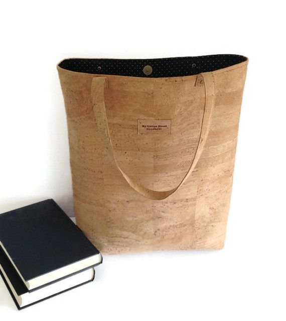 Corcho bolso bolso de mano grande Eco Friendly por MyCottonHouse
