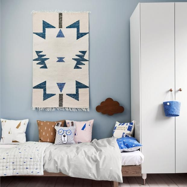 "Kelim-Teppich ""Blue Triangles"" von Ferm Living"
