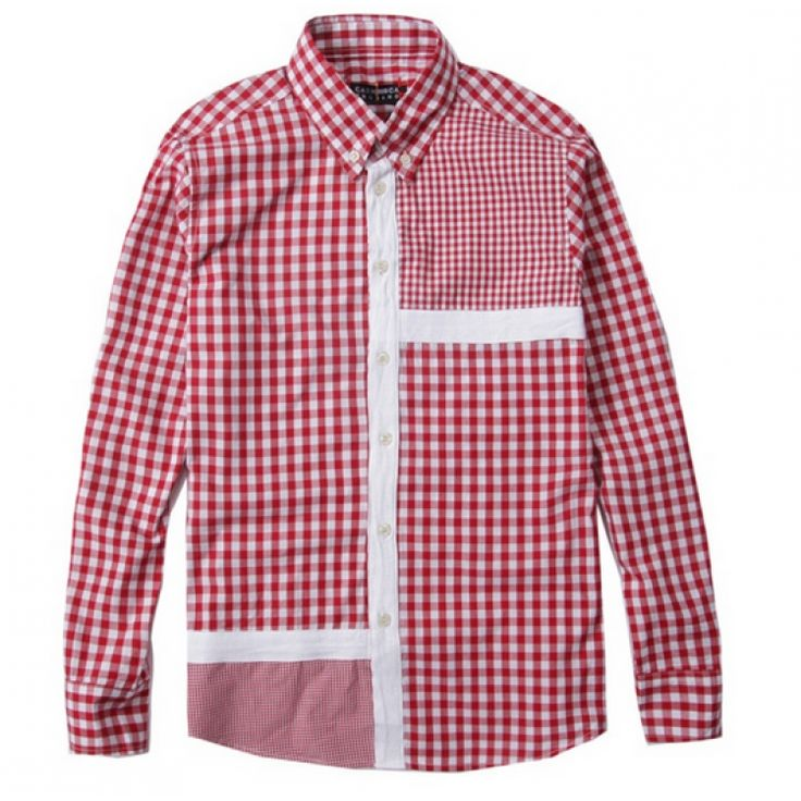 "Classic red-white checks! Grab your Cash CA ""Plaid Box"" Button Up Shirt Collection at fusionswag.com #CashCA #fusionswag #buttonup #urbanwear #streetwear #streetfashion"