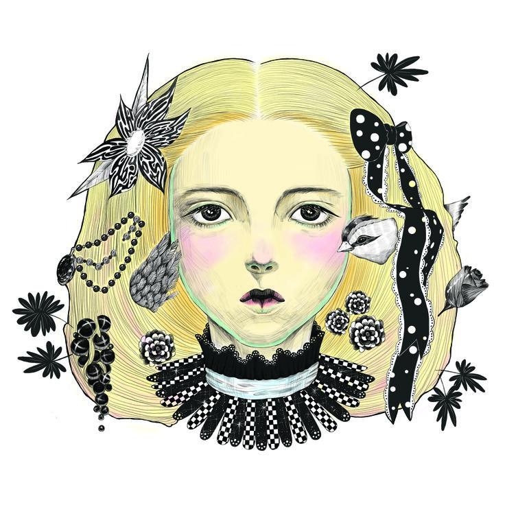 하구미 하니와 클로버 일러스트레이션 일러스트 illustration girl