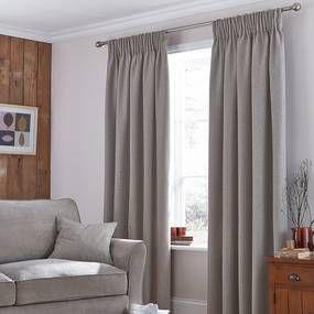 Harris Mink Thermal Pencil Pleat Curtains