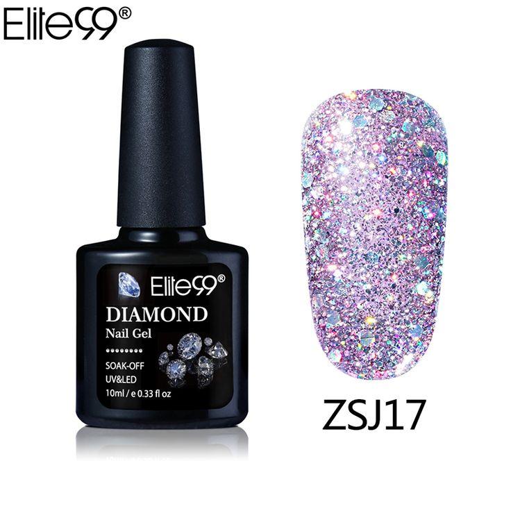 Elite99 Nouvelle Arrivée UV Gel Nail Manucure 10 ml Diamant Glitter UV Vernis À ongles Paillettes Gel Nail Bonne Qualité Soak Off Gel Polish