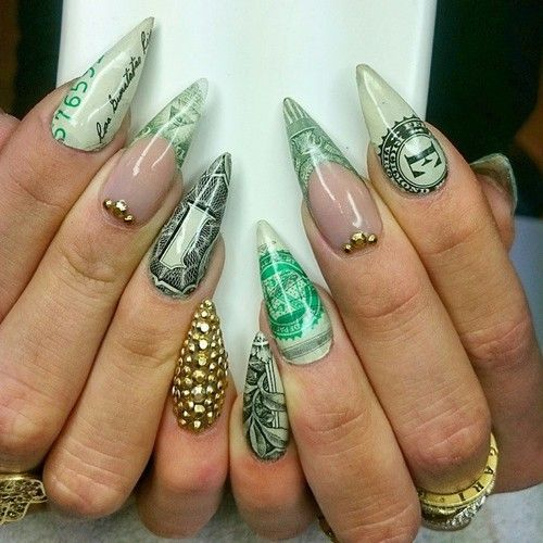 Best 25 ghetto nails ideas on pinterest royal blue nails classiest money nails ive seen prinsesfo Gallery