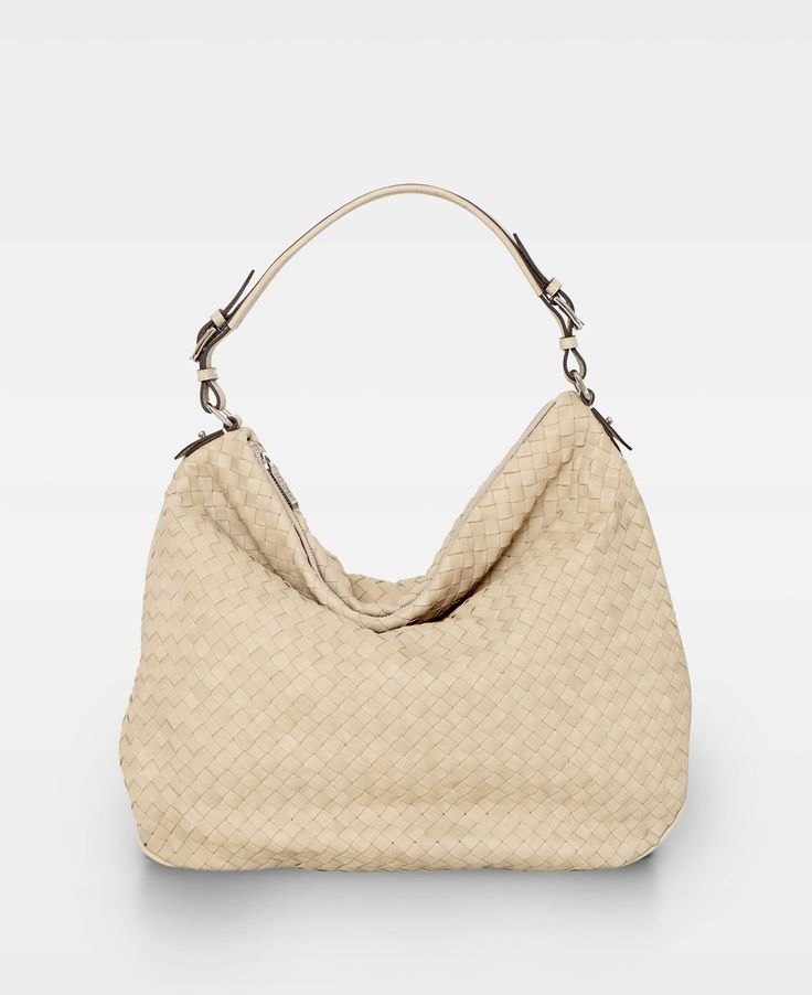 DECADENT Liva Woven flat shoulder bag, Beige