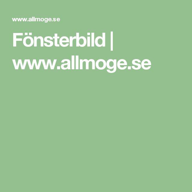 Fönsterbild | www.allmoge.se