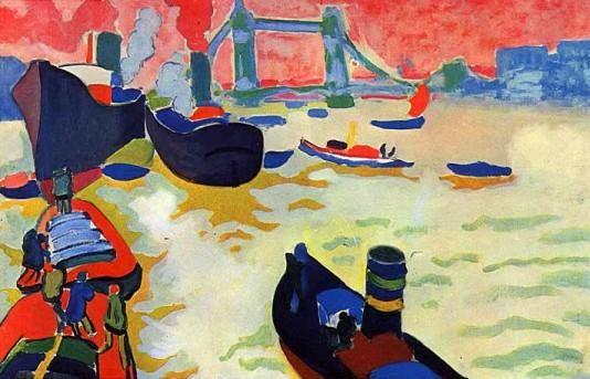'Die Themse', öl von André Derain (1880-1954, France)