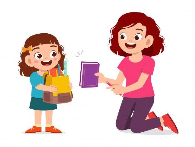 Feliz Nina Nino Lindo Preparar Ir A La E Premium Vector Freepik Vector Escuela Caracter Dibujos Anima Imagenes De Ninos Estudiando Ninos Ninos Lindos