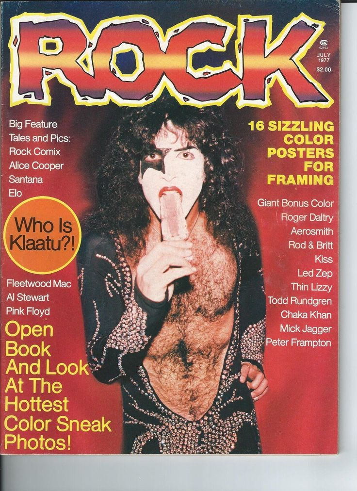 Pobozkaj Magazine 1977 rock Paul Stanley Cover RARE | eBay