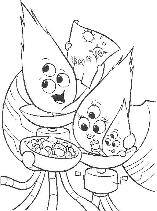 Family Alien Coloring Page Chicken