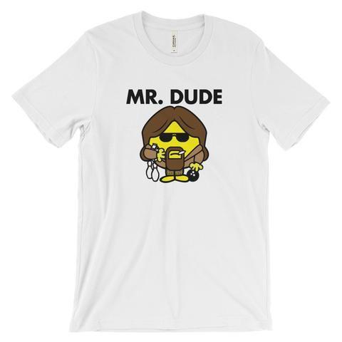 Mr. Dude- The Big Lebowski Shirt - White