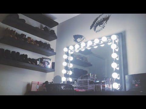 diy vanity mirror with lights under 100 simplysandra youtube diy. Black Bedroom Furniture Sets. Home Design Ideas