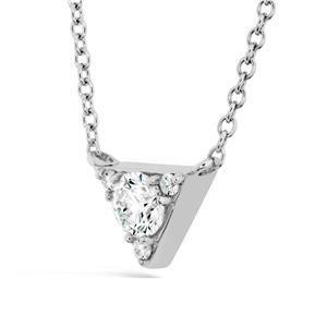Hearts on Fire 18K - White Gold DIAMOND Necklaces Triplicity Triangle Pendant #ArthursJewelers