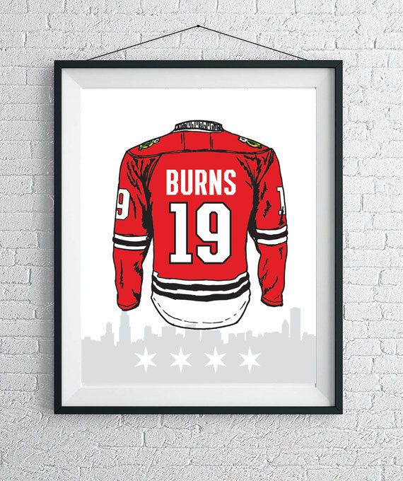 Custom Chicago Blackhawks Jersey Wall Art / Blackhawks Poster / Chicago Art Print