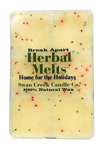 Scent your home with the inviting fragrance of the Swan Creek Candle Company® Drizzle Melts Home for the Holidays Melting Wax. It features cedar hardwood and balsam fir blended with cinnamon and clove. The 100% natural soybean and beeswax blend is designed for use with wax-melting warmers, and breaks apart for convenient use.