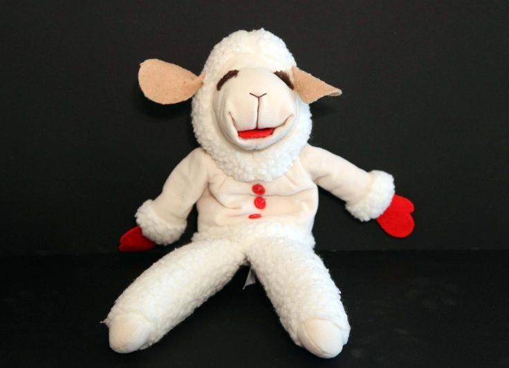 Vintage Lamb Chop puppet 1992 shari lewis soft by 216vintageModern on Etsy