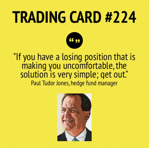 Trading Card #224 A Losing Position by Paul Tudor Jones