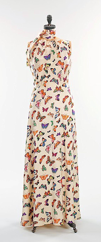 Elsa Schiaparelli - 1937 - The Butterfly dress - Silk - The Metropolitan Museum of Art