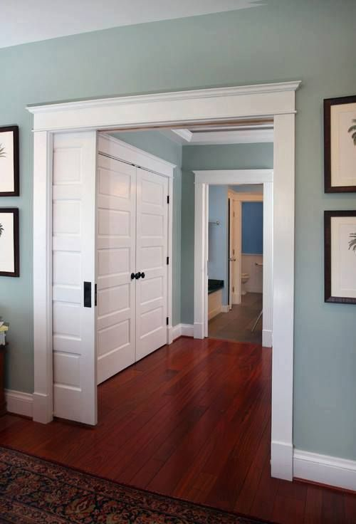 Pleasant Valley from Benjamin Moore is one of the most versatile & popular colors out there. It has a perfect mix of warm/cool tones in the gorgeous blue/gray color, so it works with almost anything. Also looks stunning in a lot of lighting situations.