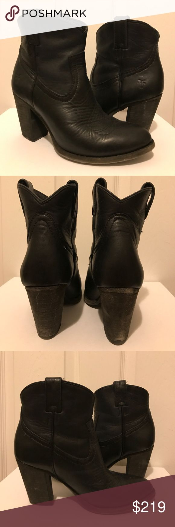 🍁FALL SALE🍁Frye Ilana Short Boot black 7m Frye Ilana Short Boot black 7m. Excellent condition. Worn twice. Only sign of wear is on soles as shown. Incredibly comfortable. Exceptional leather. Frye Shoes Heeled Boots
