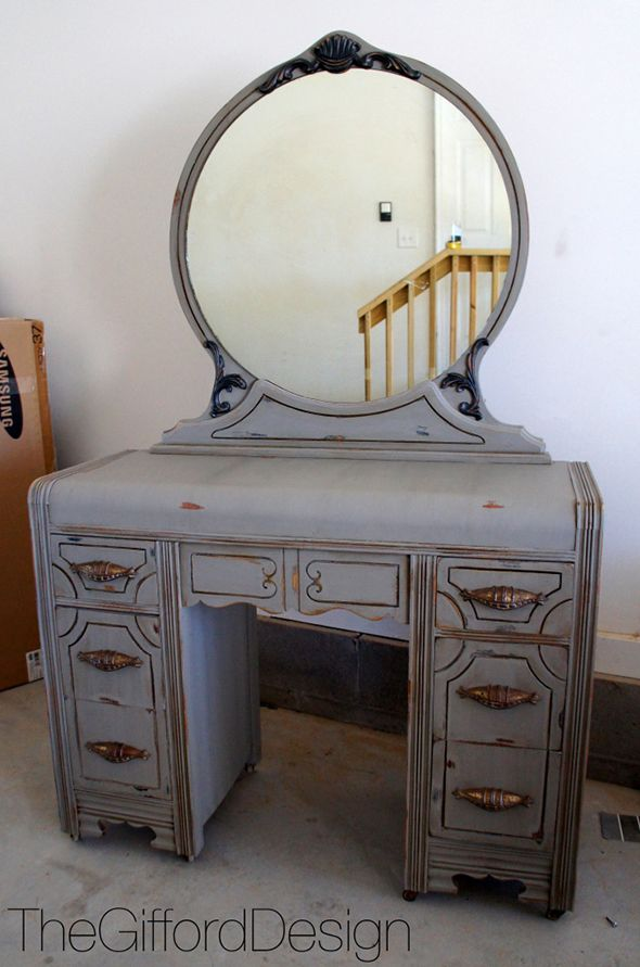 Painted waterfall vanity