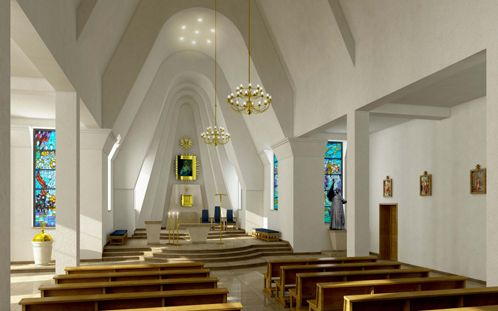 www.PAiKZ.com Interior design of  the chancel                                                                                                                                                                                                                                                                                                      of the Our Lady of Sorrows church Poland